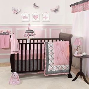 New Lambs & Ivy Perfect Fit Duchess Girls Bed Set